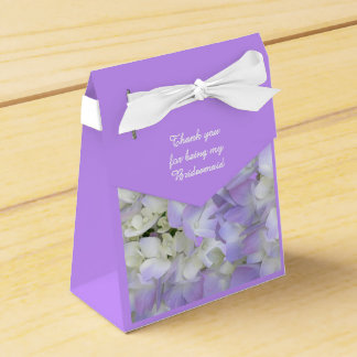 Purple Hydrangea Bridesmaids Thank You Gift Box Favor Boxes