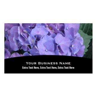 Purple Hydrangea Business Card