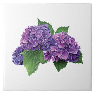 Purple Hydrangea Ceramic Tile