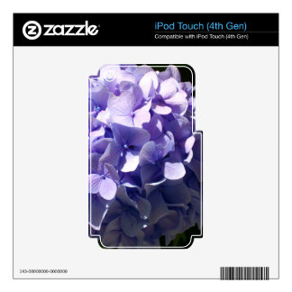 Purple Hydrangea Decal For iPod Touch 4G