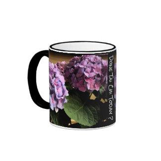 Purple Hydrangea Done Tai Chi today? lefty Ringer Mug