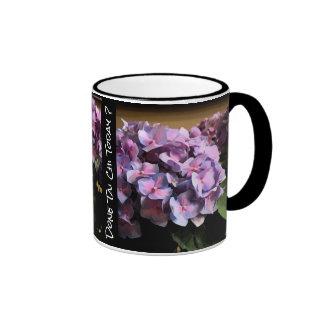 Purple Hydrangea Done Tai Chi today? Righty Ringer Mug