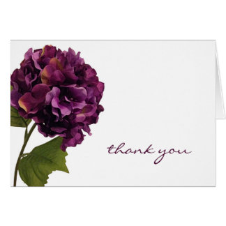 Purple Hydrangea - floral thank you notes