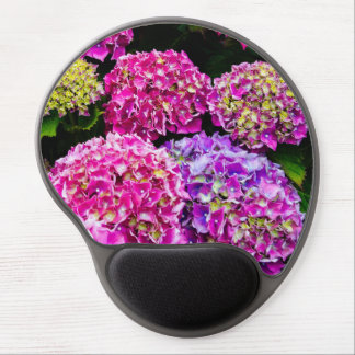 Purple Hydrangea Flowers Blooming In Summer Gel Mousepads
