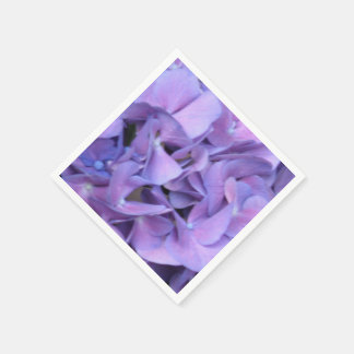 Purple Hydrangea Flowers Standard Cocktail Napkin