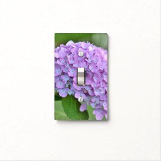 Purple hydrangea light switch cover