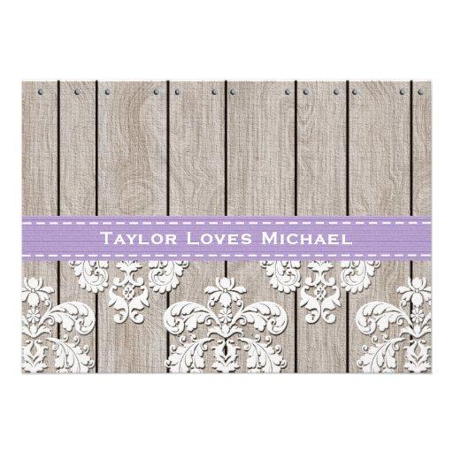Purple Hydrangea Monogram Mason Jar Bridal Shower Personalized Invitations (back side)
