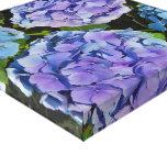 Purple Hydrangea Plant Canvas Print