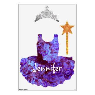 Purple Hydrangea Princess wall decals