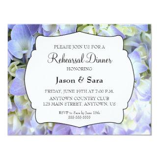 Purple Hydrangea Rehearsal Dinner Card