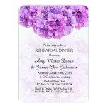 Purple hydrangea rehearsal dinner hydrangea4 5x7 paper invitation card