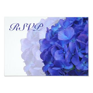 "Purple Hydrangea RSVP Cards 3.5"" X 5"" Invitation Card"
