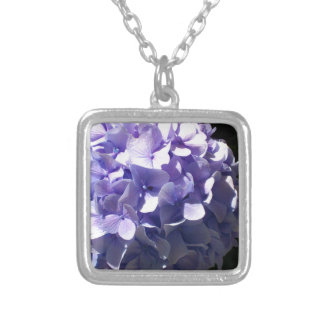 Purple Hydrangea Silver Plated Necklace
