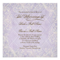 Purple Hydrangea Swirl - Wedding Invitation
