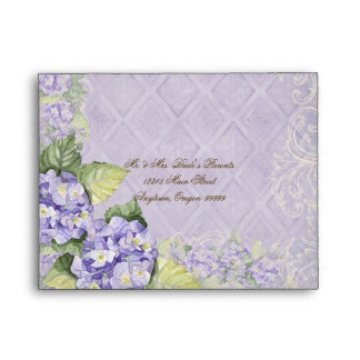 Purple Hydrangea Swirl - Wedding Matching Envelope