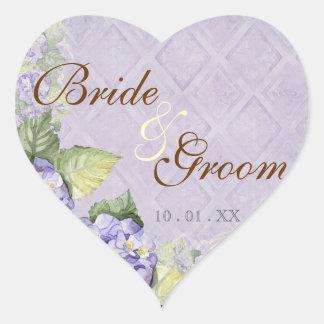 Purple Hydrangea Swirl - Wedding Seal or Sticker