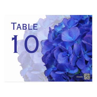 Purple Hydrangea Table Number Postcard