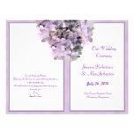 "Purple Hydrangea Template Wedding Program 8.5"" X 11"" Flyer"