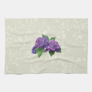 Purple Hydrangea Towels
