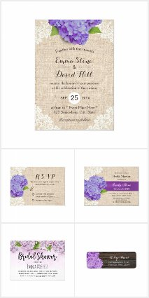 Purple Hydrangea Wedding Collection