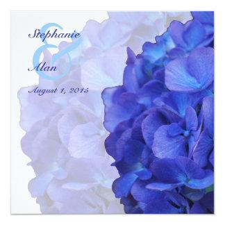 """Purple Hydrangea Wedding Invitation 5.25"""" Square Invitation Card"""