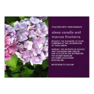 Purple Hydrangea Wedding Invitation
