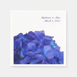 Purple Hydrangea Wedding Paper Napkins