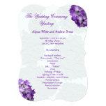 Purple Hydrangea Wedding Program Templates 5x7 Paper Invitation Card