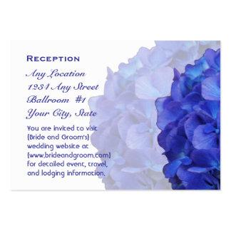 Purple Hydrangea Wedding Reception Cards