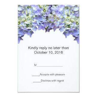 Purple Hydrangea Wedding RSVP Announcement