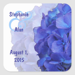 Purple Hydrangea Wedding Stickers