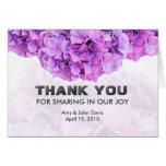 Purple hydrangea wedding thank you note hydrangea4 card