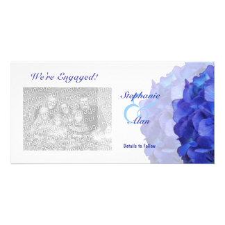 Purple Hydrangea We're Engaged Photo Cards