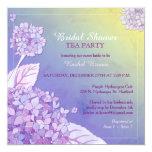 Purple Hydrangeas Bridal Shower Tea Party Card at Zazzle