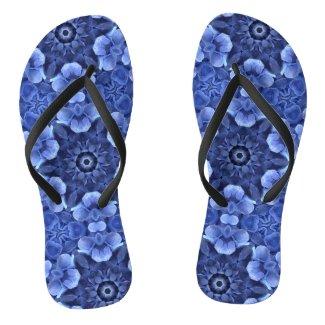 Purple Hydrangeas Flip Flops