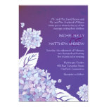Purple Hydrangeas in Sunset Formal Wedding Card