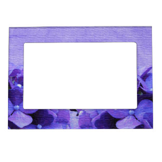 Purple Hydrangeas Magnetic Frame
