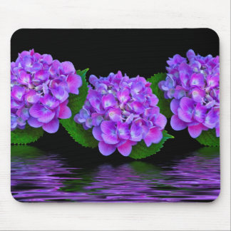 Purple Hydrangeas Mouse Pad