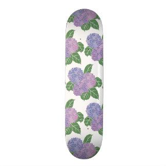 Purple Hydreangas Hortensia Barely Skate Board
