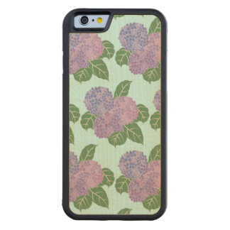 Purple Hydreangas Hortensia Carved® Maple iPhone 6 Bumper