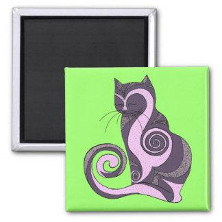 Purple Hypnocat (customizable) Fridge Magnets