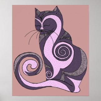 Purple Hypnocat Print