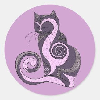 Purple Hypnocat Stickers (customizable)