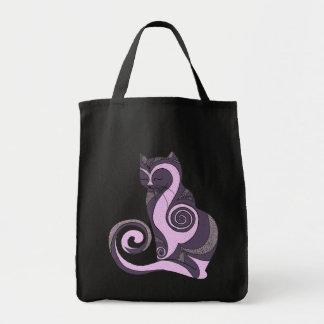 Purple Hypnocat Tote (customizable) Bags