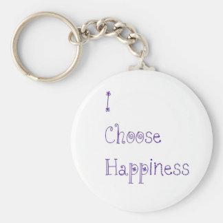 Purple I Choose Happiness Keychain