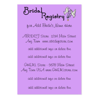 Purple I DO - Customizable Bridal Registry Cards Large Business Card