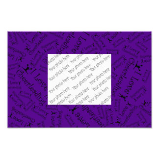 Purple I love cheerleading Photograph
