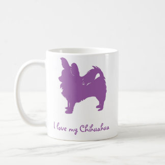 Purple I Love My Chihuahua Coffee Mug