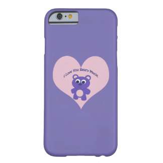 Purple I love you Beary Much! Barely There iPhone 6 Case