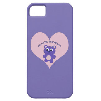 Purple I love you Beary Much! iPhone SE/5/5s Case